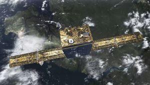 Havainnekuva suomalaisesta ICEYE-X1 -satelliitista.