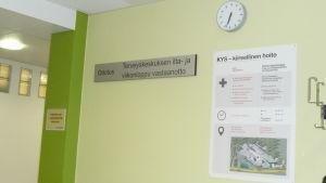 Kuopion terveyskeskuksen ilta- ja viikonloppuvastaanotto toimii KYSin tiloissa.