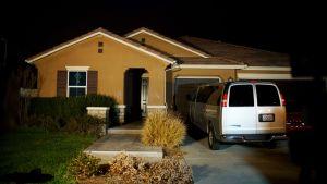 David Allen ja Louise Anna Turpinin talo kuvattuna Kalifornian Perrisissä 15. tammikuuta.