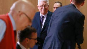 Palestiinalaisten presidentti Mahmud Abbas Brysselissä