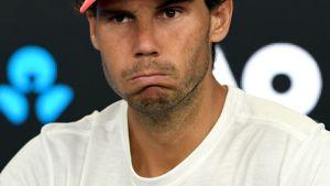 Rafael Nadal pettyi Australiassa.