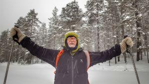 Franco Berrino Kuusamossa Oivankijärven jäällä.