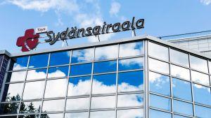 Tampereen yliopistollisen sairaalan Sydänsairaalan julkisivu