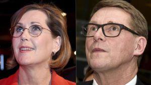Tuula Haataine ja Matti Vanhanen.