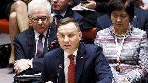 Puolan presidentti Andrzej Duda.