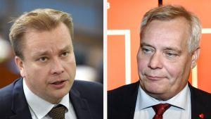Antti Kaikkonen ja Antti Rinne.