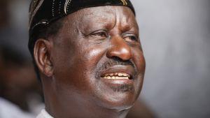 Kenian oppositiojohtaja Raila Odinga.