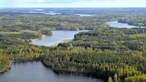 Kutilan kanavan paikka Pien-Saimaa ja Umianlampi