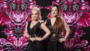 Jonna Geagean (vas.) ja Erin Anttilan muodostama pop-duo Nylon Beat tekee paluun keikkalavoille kesällä.