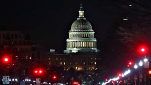 Yhdysvaltain kongressirakennus 9. helmikuuta 2018.