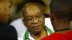 Etelä-Afrikan presidentti Jacob Zuma ANC:n kokouksessa joulukuussa.