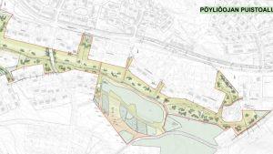 Pöykkölä pöyliöojan puiston suunnitelma