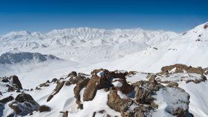 Näkymä Zagros-vuorista Iranissa.