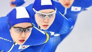 Etelä-Korean Park Ji-woo, Noh Seon-yeong ja Kim Bo-reum.