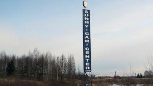 Sunny Car Centerin tolppa Hämeenlinnassa