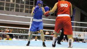 Semifinaalissa Potkonen kukisti Intian entisen maailmanmestarin Sarita Devin