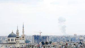 Savu kohoaa Itä-Ghoutan alueella 26. helmikuuta.