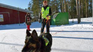 Sirpa Tamminen, Päivi Kuusela ja Myy-koira.