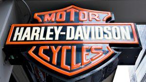 Harley Davidson myymälän logo.