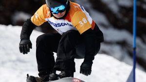 Matti Suur-Hamari kilpailemassa PyeongChangissa maanantaina.
