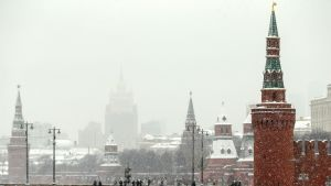 Näkymä Kremliin ja Venäjän ulkoministeriöön.