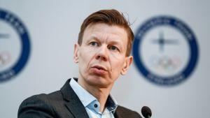 Suomen Olympiakomitean toimitusjohtaja Mikko Salonen