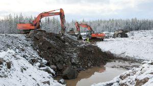 Talvivaara kaivosyhtiö julkisti 8. marraskuuta 2012 kuvia Talvivaaran alueelta.