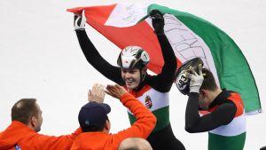 Unkari juhlii short trackin olympiakultaa