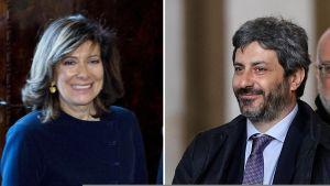 Elisabetta Casellati ja Roberto Fico.