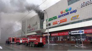 Tuhoisa tulipalo riehui ostoskeskuksessa Kemerovossa, Siperiassa.