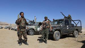 Huthikapinallisia Jemenin pääkaupungissa Sanaassa