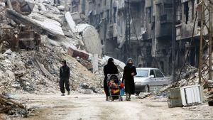 Katunäkymä Itä-Ghoutasta.
