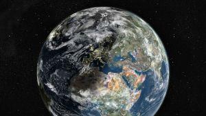 Landsat sateliitin kuva maapallosta.