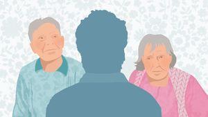 Vanhukset ja vakuutusmyyjä