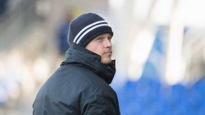 HJK:n päävalmentaja Mika Lehkosuo.