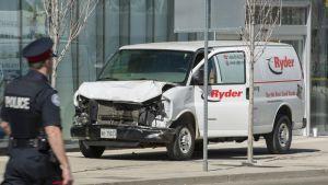 Toronton yliajajan käyttämä pakettiauto.