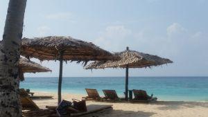 Valkoinen hiekkaranta Boracayn saarella