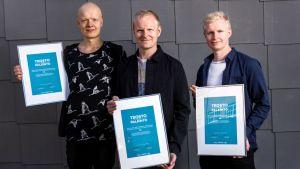 Joona Toivonen Trio ansaitsi Teosto-palkinnon XX -levyllään.