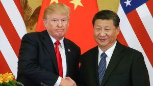 Donald Trump ja  Xi Jinping