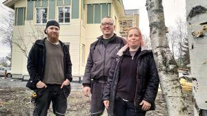 Sami, Juhani ja Harriet Mäkelä