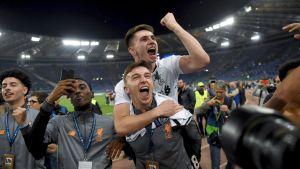 Liverpool juhlii Mestarien liigan finaalipaikkaa.