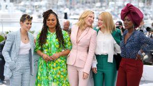 Kristen Stewart, Ava DuVernay, Cate Blanchett, Lea Seydoux ja Khadja Nin poseeraavat.