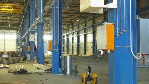 Finn-Powerin rakenteilla oleva tehdashalli