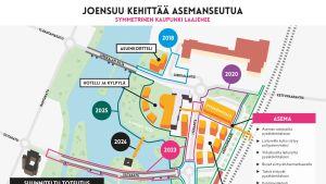 Karttakuva Joensuun aseman seudun uudistamisesta