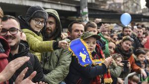 Kosovo vietti itsenäisyysjulistuksensa 10-vuotispäivää helmikuussa 2018.