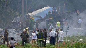 Cubana de Aviacionin tuhoutunut matkustajakone.