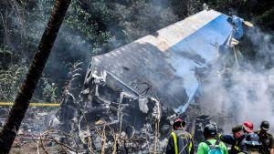 Kuubalaisen lentoyhtiön Boeing 737 -matkustajakone syöksyi maahan 18. toukokuuta.
