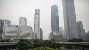 Guangzhoun pilvenpiirtäjiä