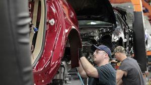 General Motorsin kokoonpanolinja Lansingissa, Michiganissa.