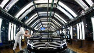 Volkswagen tehtaalla